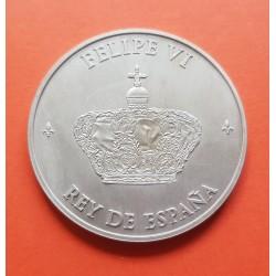 . ESPAÑA FNMT 2€ EUROS 2014 FELIPE VI MEDALLA PROCLAMACION PLATA