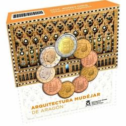 . @ESPAÑA@ ESTUCHE PROOF OFICIAL EUROS 2015 FELIPE VI 1 Cts/2€