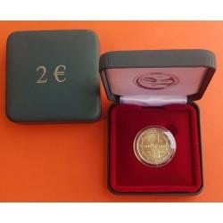 BELGICA 2€ EUROS 2014 CRUZ ROJA 150 ANIVERSARIO ESTUCHE RARA