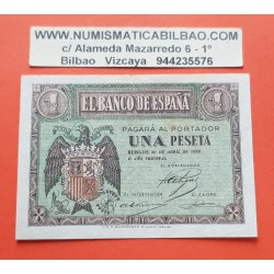 ESPAÑA 1 PESETA 1938 ABRIL 30 BURGOS AGUILA Serie L002 SC