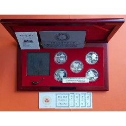 5 monedas x CHINA 5 YUAN 1992 COINS OF INVENTION and DISCOVERY PLATA PROOF ESTUCHE y CERTIFICADOS @MUY RARAS@