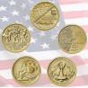 5 monedas x ESTADOS UNIDOS 1 DOLAR 2018 P + 2019 P Serie AMERICAN INNOVATION LATON SC USA 1 Dollar 5 coin set