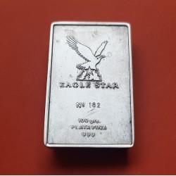@OFERTA@ 100 gramos LINGOTE de PLATA PURA Vi CONVENCION DE AGENTES 1995 EAGLE STAR Ley 999 Silver