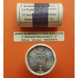 25 monedas x ESPAÑA 100 PESETAS 1980 * 80 CARTUCHO ORIGINAL FNMT MUNDIAL DE FUTBOL NICKEL SC