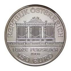 AUSTRIA 1,50 EUROS 2008 FILARMONICA PLATA PURA SC