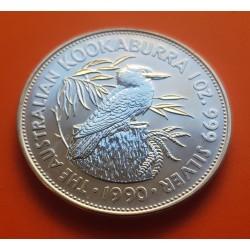 AUSTRALIA 1 DOLAR 1990 KOOKABURRA PLATA SC SILVER 5 DOLLAR