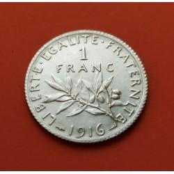 .FRANCIA 1 FRANCO 1916 SEMEUSE PLATA SC SILVER FRANCE