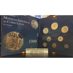 ESPAÑA 1999 CARTERA FNMT SERIE 1+5+10+25+50+100+200+500 PESETAS