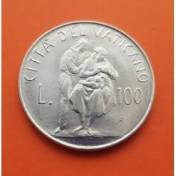 VATICANO 100 LIRAS 1962 CONCILIO PAPA JUAN XXIII ACERO SC KM*73