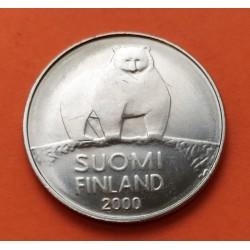 FINLANDIA 500 MARKKAA 1951 HELSINKI PLATA RARE SILVER KM.35