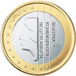 HOLANDA 1 EURO 2002 BEATRIZ SIN CIRCULAR NETHERLANDS 1€ MONEDA