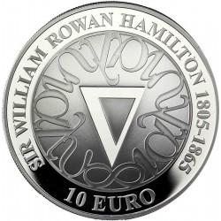 IRLANDA 10 EUROS 2005 HAMILTON PLATA PROOF SILVER EIRE
