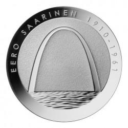 FINNLAND 10 EUROS 2010 SILVER PROOF EERO SAARINEN