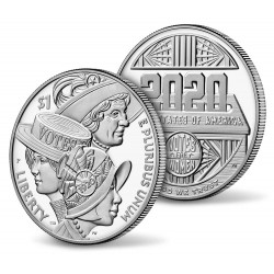 .ESTADOS UNIDOS $1 DOLLAR 2014 BEISBOL BASEBALL PROOF PLATA