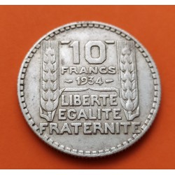 . FRANCIA 20 FRANCOS 1937 TURIN PLATA EBC Silver France Francs