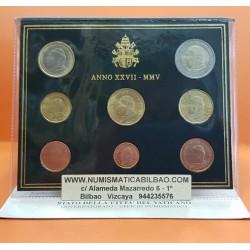 ...VATICANO CARTERA OFICIAL EUROS 2005 BU SET KMS