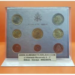 VATICANO CARTERA EUROS 2003 SET 1+2+5+10+20+50 Centimos 1+2€