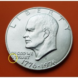 USA 1 DOLLAR 1976 S EISENHOWER NICKEL PROOF TYPE 2