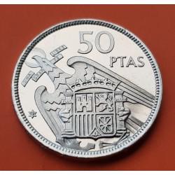 ESPAÑA 50 PESETAS 1957 * 72 FRANCO PROOF PRUEBA CARTERA FNMT