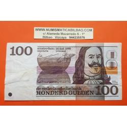 HOLANDA 100 GULDEN 1970 MICHIEL DE RUYTER Pick 93 MBC @ARRUGAS y ESCRITO@ The Netherlands Pays Bas Honderd Gulden