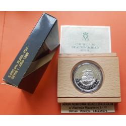 ESPAÑA V CENTENARIO 5000 PESETAS 1989 SERIE 1ª MONEDA DE PLATA FDC ESTUCHE y CERTIFICADO FNMT QUINTO Spain silver