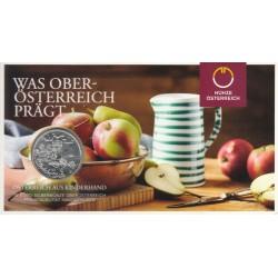 AUSTRIA 10 EUROS 2016 REGION de HALLSTAT PUEBLO EN LOS ALPES MONEDA DE COBRE SC ÖSTERREICH EURO COPPER COIN