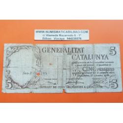 . ESPAÑA SANTANDER 5 PESETAS 1936 BANCO MERCANTIL 155001