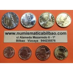 LUXEMBURGO MONEDAS EURO 2004 SC 1+2+5+10+20+50 Centimos + 1 EURO + 2 EUROS 2004 Serie Tira LUXEMBOURG