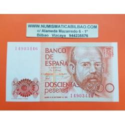 200 PESETAS 1980 LEOPOLDO ALAS CLARIN Sin Serie ESPAÑA SC