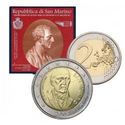 SAN MARINO 2 EUROS 2004 BARTOLOMEO BORGHESI RARA SC UNC