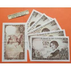..ESPAÑA 100 PESETAS 1965 BECQUER SIN SERIE 781/82/83 SC-