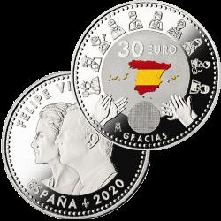 . .30 EUROS 2015 ESPAÑA CARTERA FNMT DON QUIJOTE PLATA