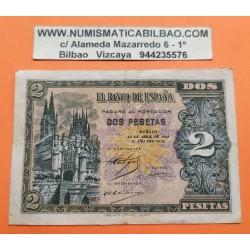 ...ESPAÑA 2 PESETAS 1938 ABRIL 30 BURGOS SC Serie A3269161