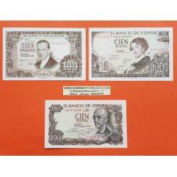 . 100 PESETAS 1970 FALLA Lote 35 billetes SC NUEVOS ESPAÑA