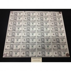 . ESTADOS UNIDOS LAMINA 32 BILLETES x $5 DOLARES 2001 SC Dollar