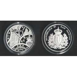 SAN MARINO 5€ + 10€ EUROS 2011 PLATA EXPLORERS SILVER PROOF