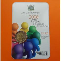 .SAN MARINO 2€ EUROS 2008 AÑO DEL DIALOGO ESTUCHE @RARA@