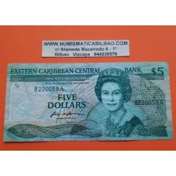 . EAST CARIBBEAN STATES 1 DOLLAR 1965 Pick 13 SC- @@RARO@@