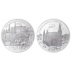 . 2015 AUSTRIA 10 EUROS CIUDAD DE VIENA COBRE SC OSTERREICH