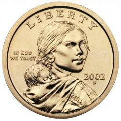 USA 1 DOLLAR SACAGAWEA 2002 P UNC BRASS