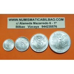 MEXICO SERIE 1/2 + 1/4 + 1/10 + 1/20 ONZA 1996 ANGEL PLATA SC SI