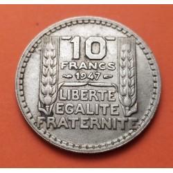 . FRANCIA 10 FRANCOS 1933 TURIN PLATA MBC++ Silver France Francs