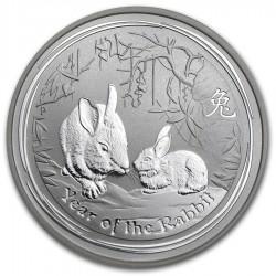 AUSTRALIA 1 DOLAR 2011 2ª SERIE LUNAR PLATA CONEJO Silver Dollar