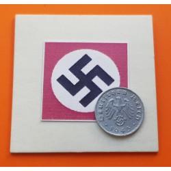 ALEMANIA 1 REICHSPFENNIG 1943 G ESVASTICA NAZI III REICH ZINC
