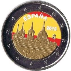 .ESPAÑA 2 EUROS COLORES 2013 EL ESCORIAL SIN CIRCULAR