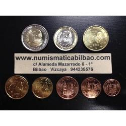 ESPAÑA MONEDAS EURO 2009 SIN CIRCULAR 1+2+5+10+20+50 Centimos 1 EURO + 2 EUROS 2009 REY JUAN CARLOS I Spain Espagne euro coins