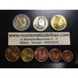ESPAÑA MONEDAS EURO 2002 SIN CIRCULAR 1+2+5+10+20+50 Centimos 1 EURO + 2 EUROS 2002 REY JUAN CARLOS I
