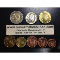 SERIE EUROS ESPAÑA 2002 SC 1+2+5+10+20+50 Centimos 1€+2€