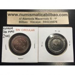 ESPAÑA 200 PESETAS 2000 REY JUAN CARLOS I KM.992 MONEDA DE NICKEL SIN CIRCULAR