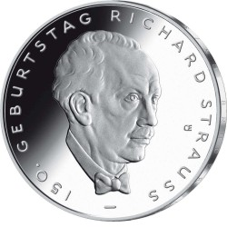 ...10€ EUROS 2014 ALEMANIA D RICHARD STRAUSS NICKEL SIN CIRCULAR